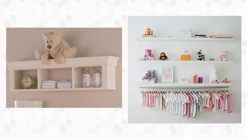 Prateleira para o quarto do bebê